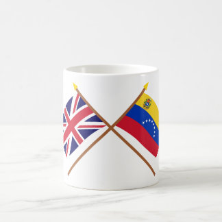UK and Venezuela Crossed Flags Coffee Mug