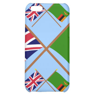 UK and Zambia Crossed Flags Cover For iPhone 5C