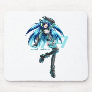 UK Anime Network Cyber-Mizuki Mouse-Mat Mouse Mat