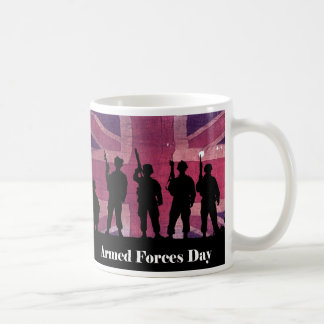 UK Armed Forces Day Union Flag with Soldiers Coffee Mug