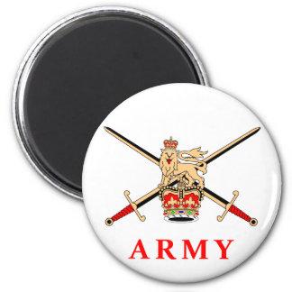 UK Army 6 Cm Round Magnet