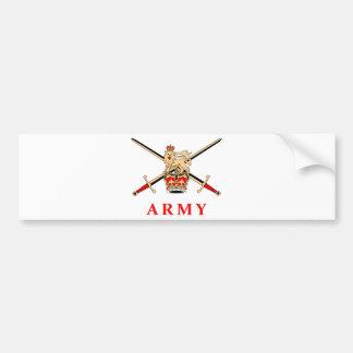 UK Army Car Bumper Sticker