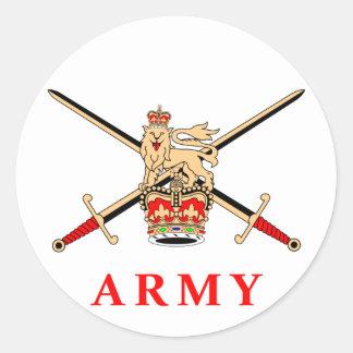 UK Army Classic Round Sticker
