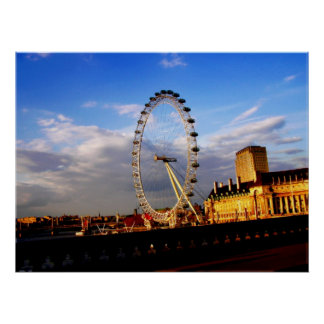 (UK) Beautiful LONDON EYE Scenery Poster