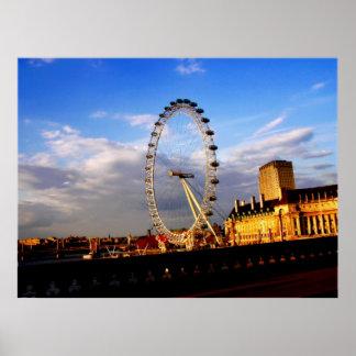 (UK) Beautiful LONDON EYE Scenery Poster
