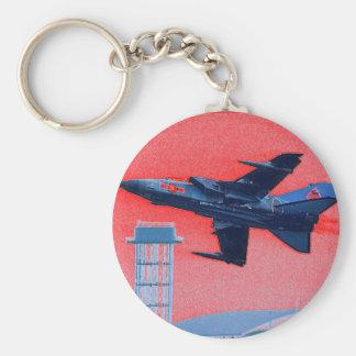 UK blue jet Key Ring