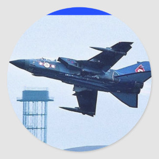 UK blue jet Round Sticker