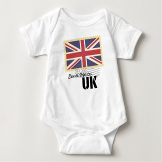 UK Britain Flag Life Send Me To Baby Bodysuit