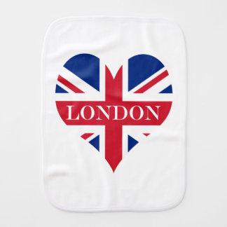UK Britain Royal Union Jack Flag Burp Cloth