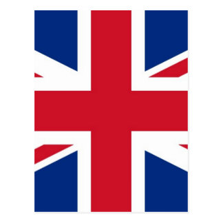 UK Britain Royal Union Jack Flag Postcard