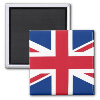 UK Britain Royal Union Jack Flag Square Magnet