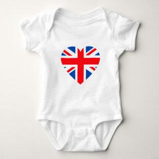 UK British Flag Heart Great Britain Baby Bodysuit