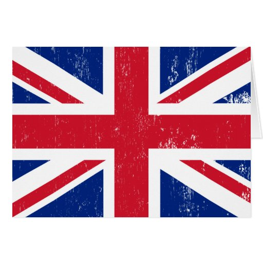UK British Great Britain England English Flag Greeting Card