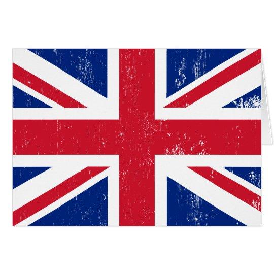 UK British Great Britain England English Flag Greeting Card