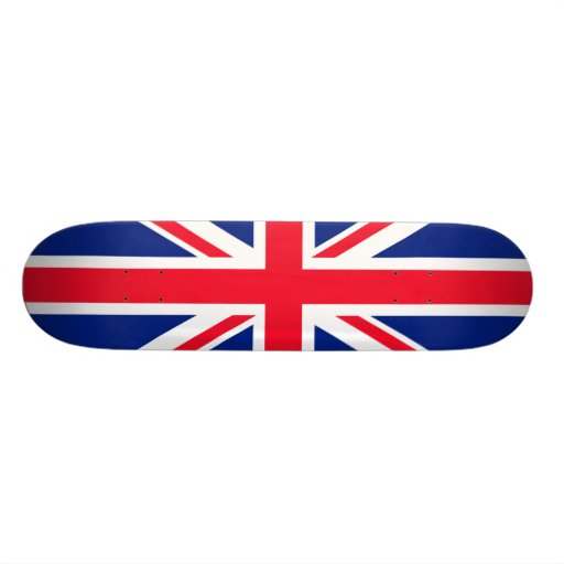 UK British Great Britain England English Flag Custom Skate Board