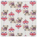 UK British Pug Fabric