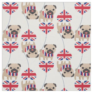 UK British Pug Fabric