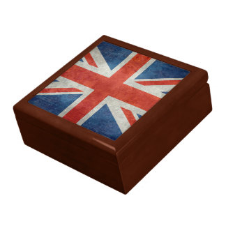 UK British Union Jack flag retro style gift box