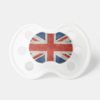 UK British Union Jack flag retro style Pacifiers