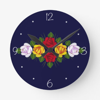 UK Canal roses Round Clock