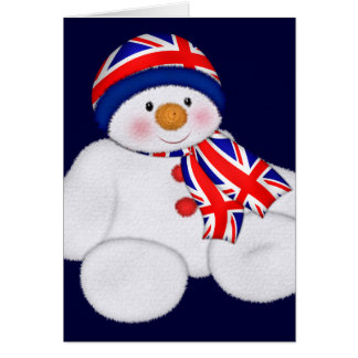UK Christmas Snowman Card