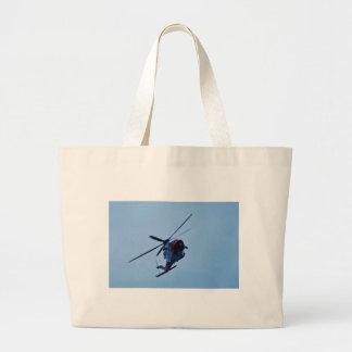 UK Coastguard helicopter. Large Tote Bag
