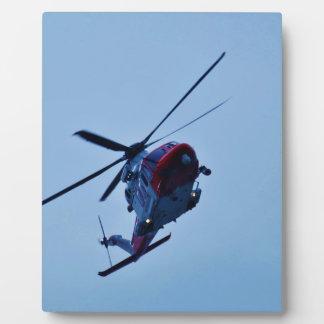 UK Coastguard helicopter. Photo Plaque