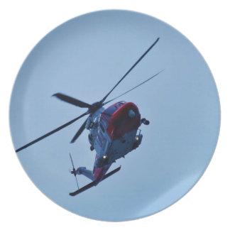 UK Coastguard helicopter. Plate