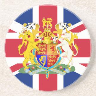 UK Coat of Arms & Flag Coaster