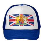 UK Coat of Arms & Flag Mesh Hats