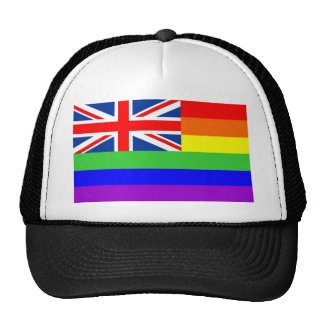 uk country gay proud rainbow flag homosexual cap