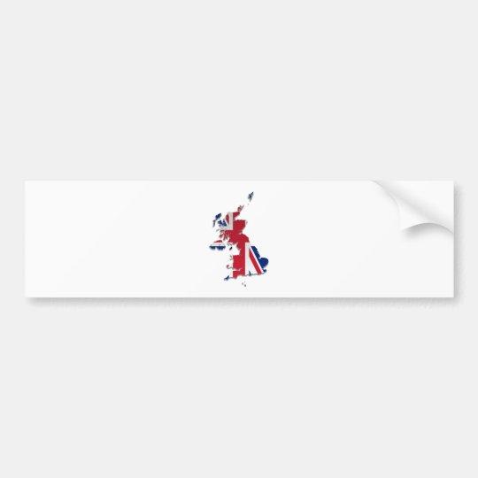 UK & Crown Dependencies Flag Map_3 Bumper Sticker