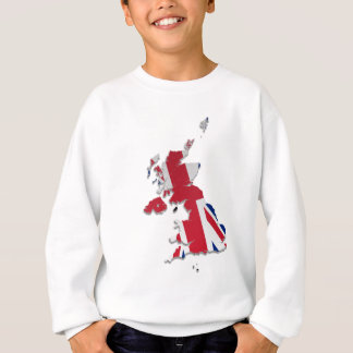 UK & Crown Dependencies Flag Map_4 Sweatshirt