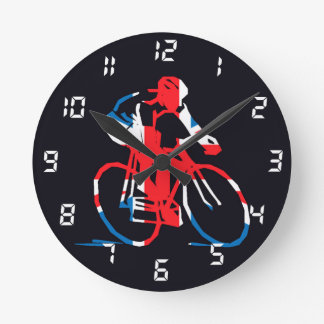 UK Cycling Round Clock