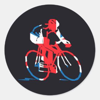 UK Cycling Round Sticker