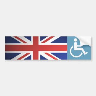 UK Disabled Veteran. Car Bumper Sticker