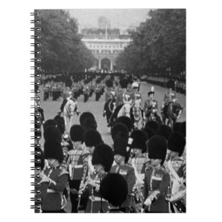 UK England Guards returning along the Mall 1970 Spiral Note Books