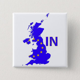 UK – EU membership referendum 2016 15 Cm Square Badge
