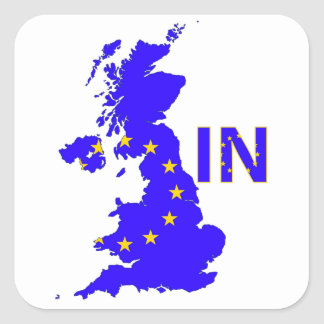 UK – EU membership referendum 2016 Square Sticker