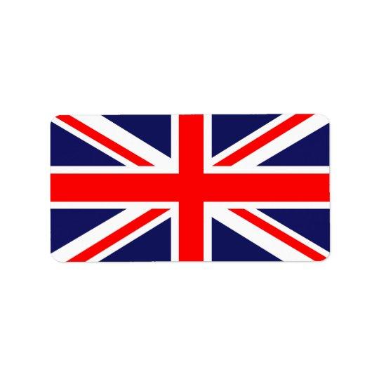 UK flag Address Label