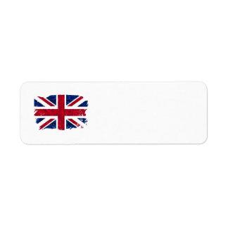 UK FLAG Address Labels