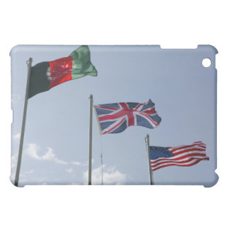 UK Flag between the Afghan and US flags iPad Mini Covers