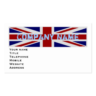 UK Flag Business Card Templates