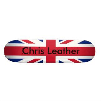 uk-flag, Chris Leather Skate Board Deck