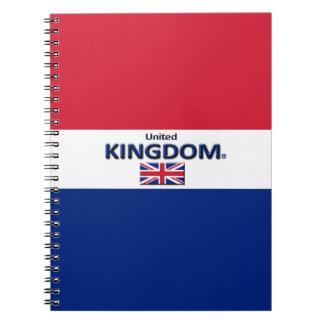 UK Flag Colours Designer Modern Notebook