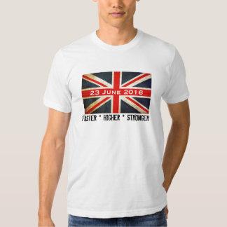 UK Flag Faster Higher Stronger 23 June 2016 Tshirt