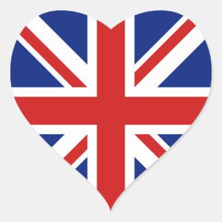 UK Flag Heart Sticker