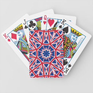 UK FLAG KALEIDOSCOPE BICYCLE PLAYING CARDS