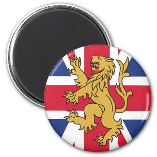 UK Flag Lion 6 Cm Round Magnet