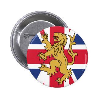 UK Flag Lion Pinback Buttons